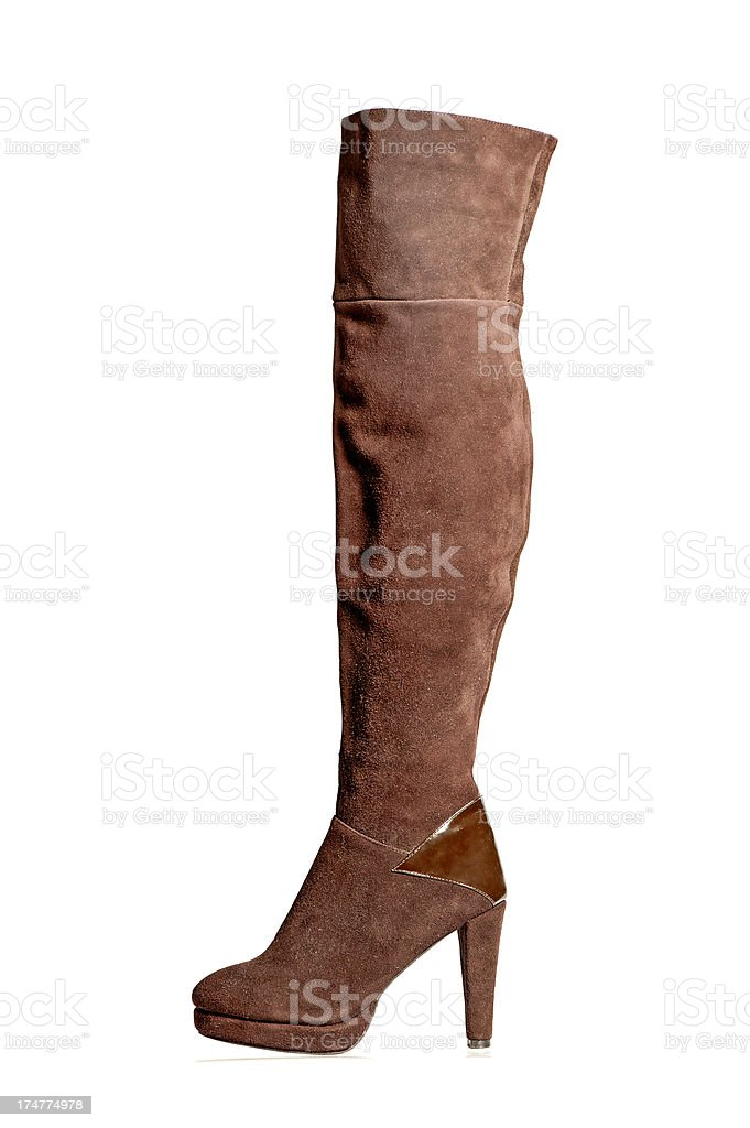 Fashionable Overknee High Heels Boot with platform stock photo