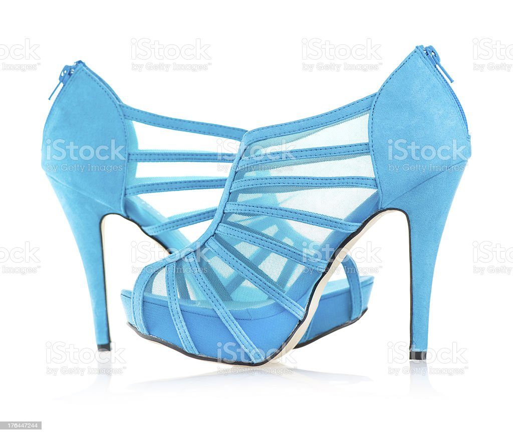 Fashionable platform High Heels ankle boots stock photo