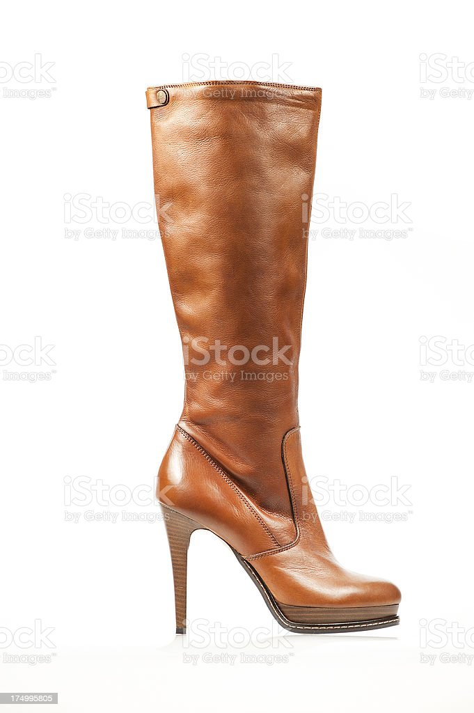 Fashionable platform high heels boots stock photo