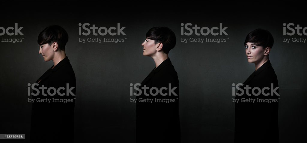 fashionable portait in different style stock photo
