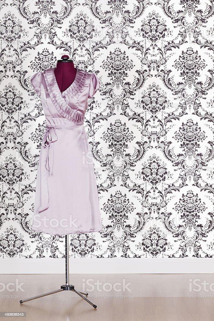Fashionable purple dress stock photo