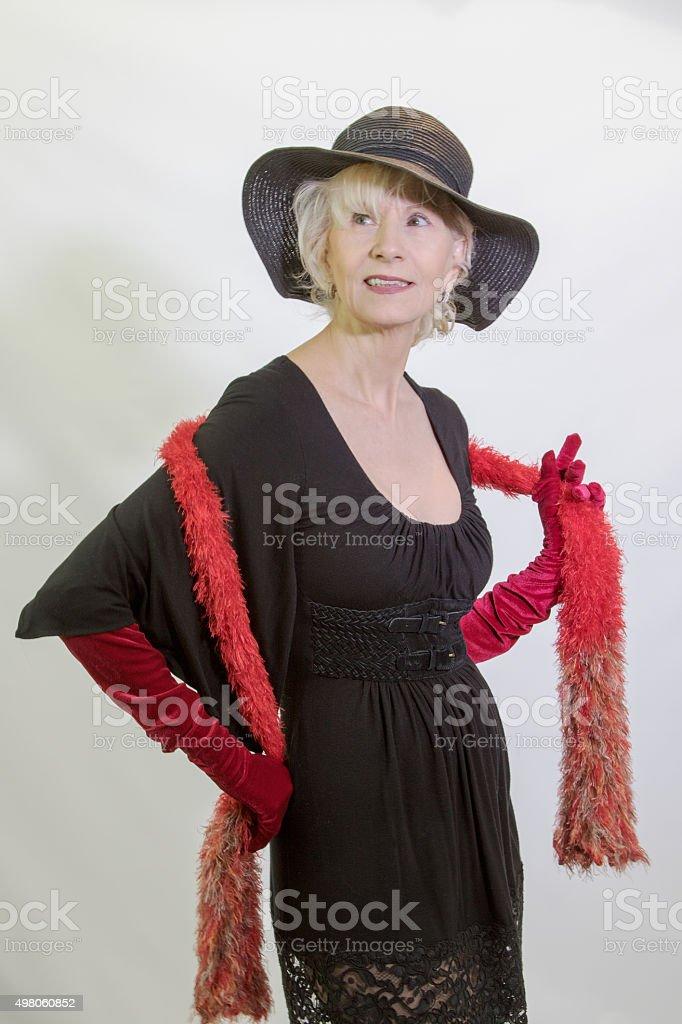 Fashionable Senior Female Adult stock photo