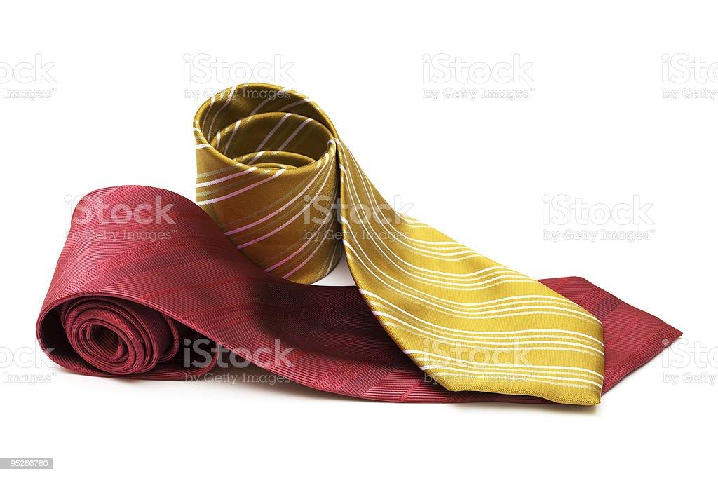 Fashionable striped necktie stock photo