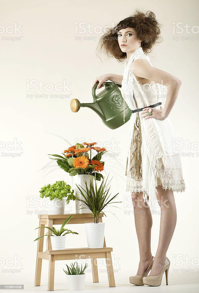 Fashionable Watering royalty-free stock photo