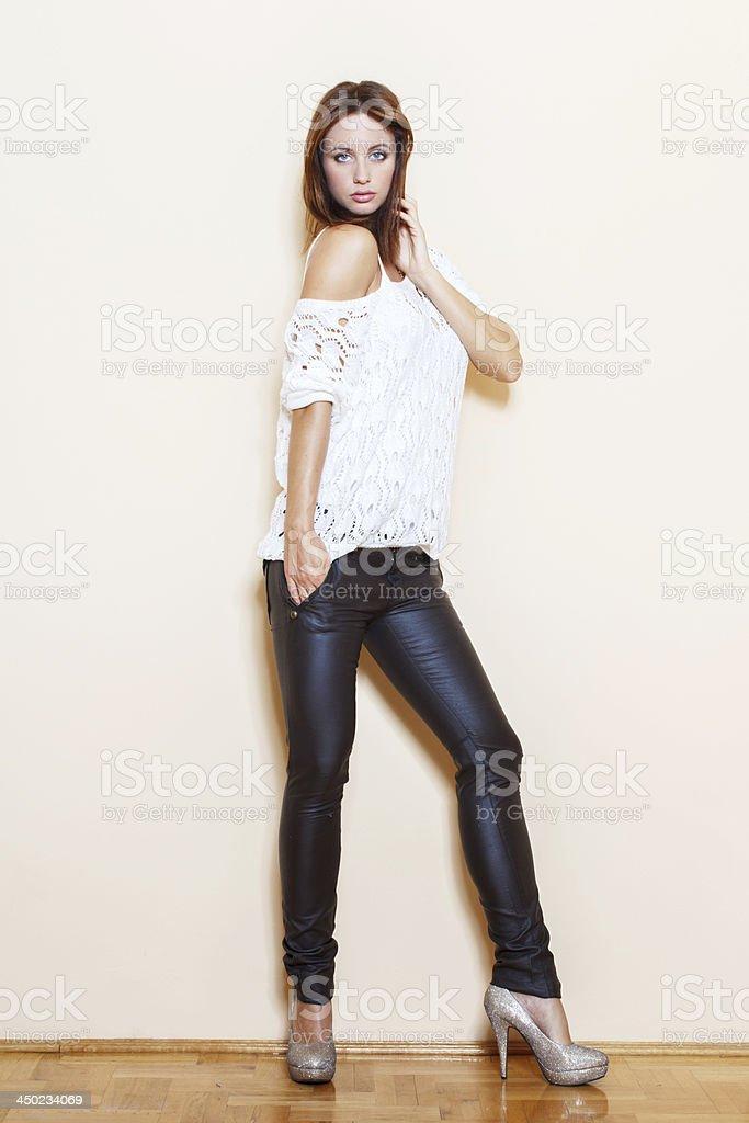 Fashionable woman posing royalty-free stock photo