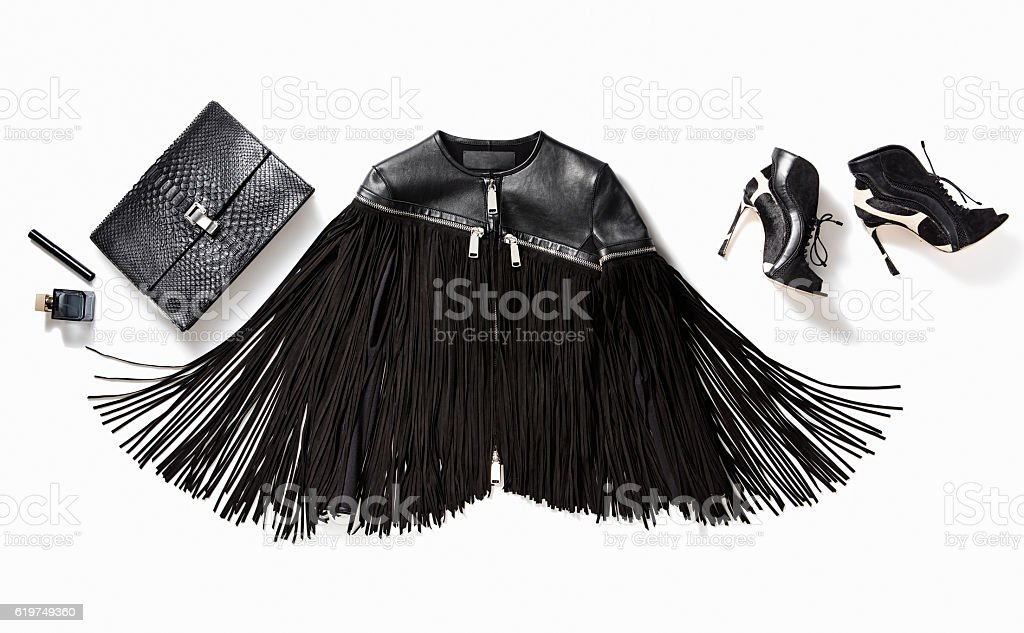 Fashionable women's clothes stock photo