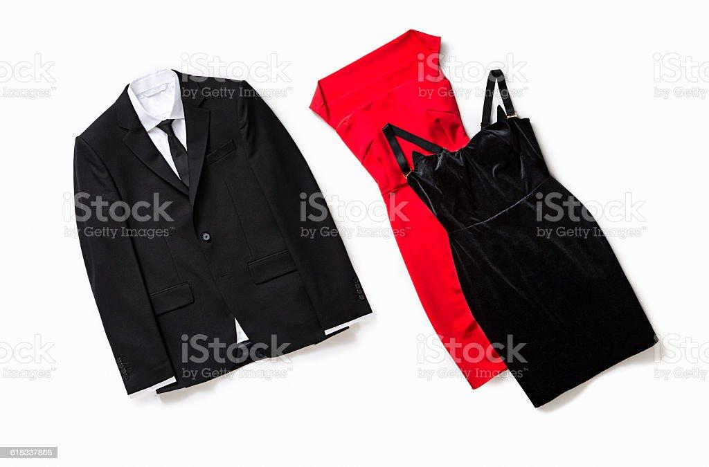 Fashionable women's clothing stock photo