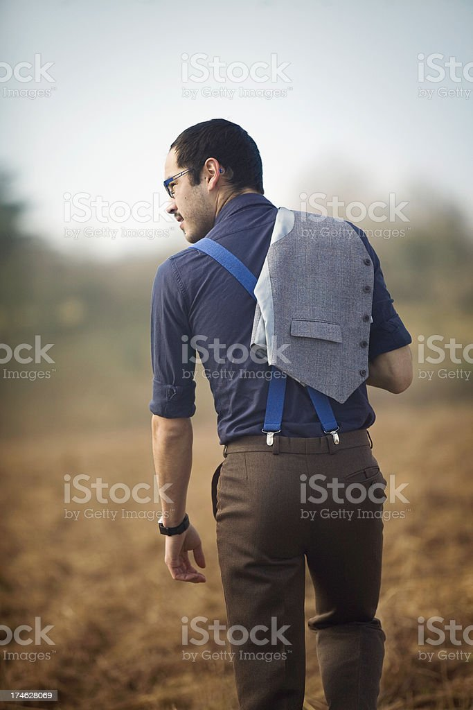 Fashionable Young Business Man Taking a Break royalty-free stock photo