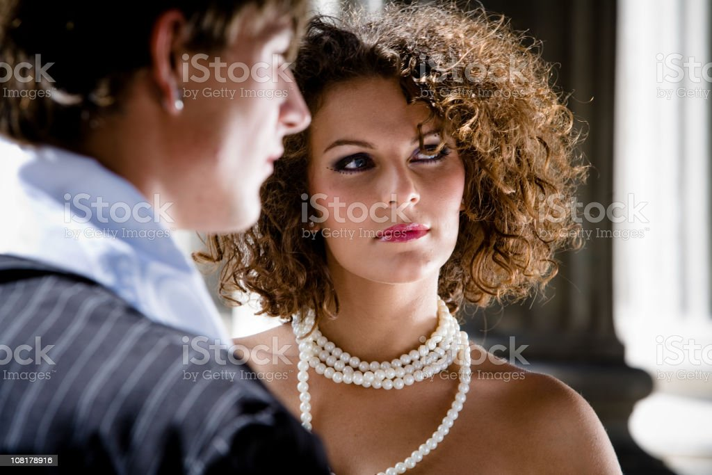 Fashionable young couple stock photo