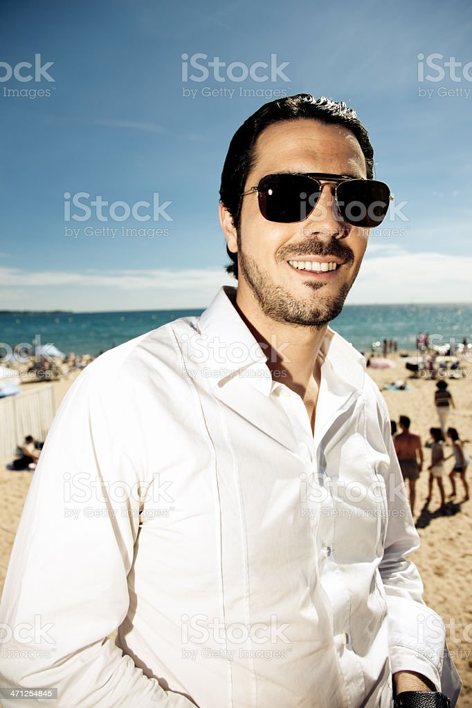 Fashionable Young Man French Riviera stock photo