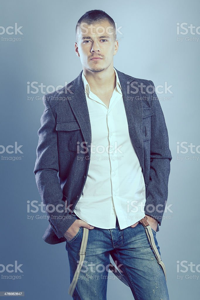 Fashionable young man royalty-free stock photo