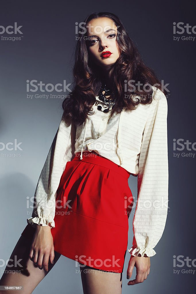 Fashionable young woman royalty-free stock photo