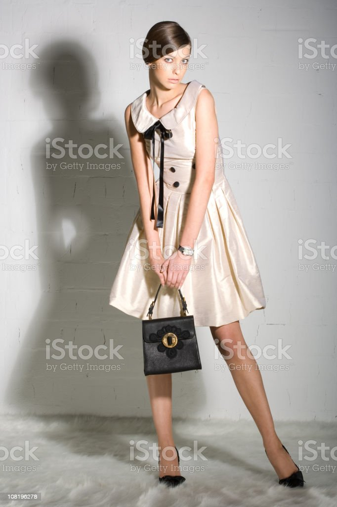 Fashionable Young Woman Posing royalty-free stock photo