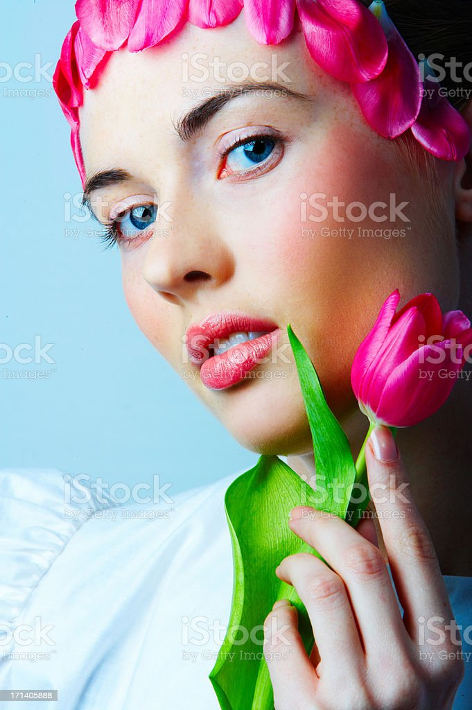 Fashionably floral royalty-free stock photo