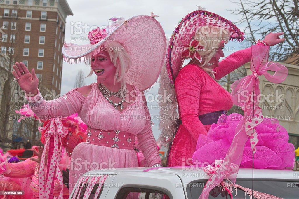 Fashionably Pink For Mardi Gras stock photo