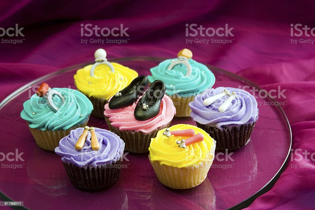 Fashionista cupcakes stock photo