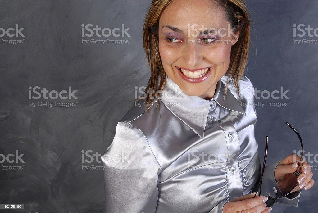 Fashionista Smiles stock photo