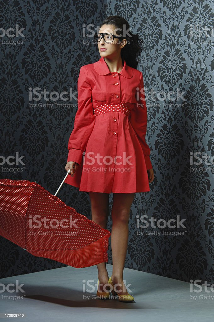 Fashion-Nerd royalty-free stock photo