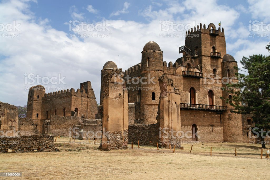 Fasiladas Palace in Gondar Ethiopia royalty-free stock photo