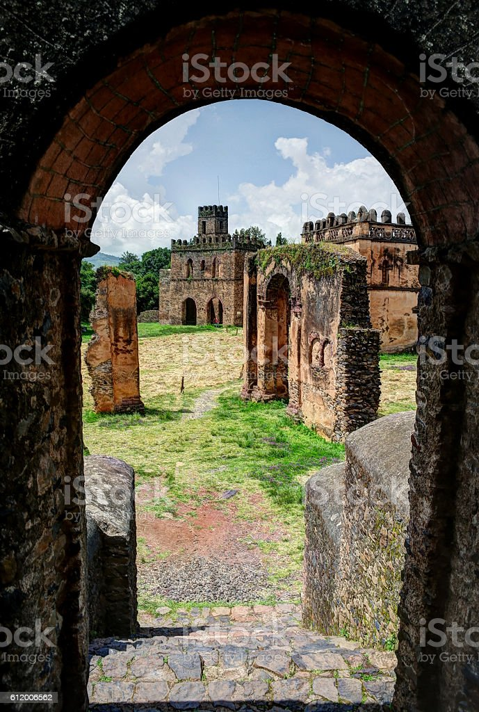 Fasilidas palace, Gonder stock photo