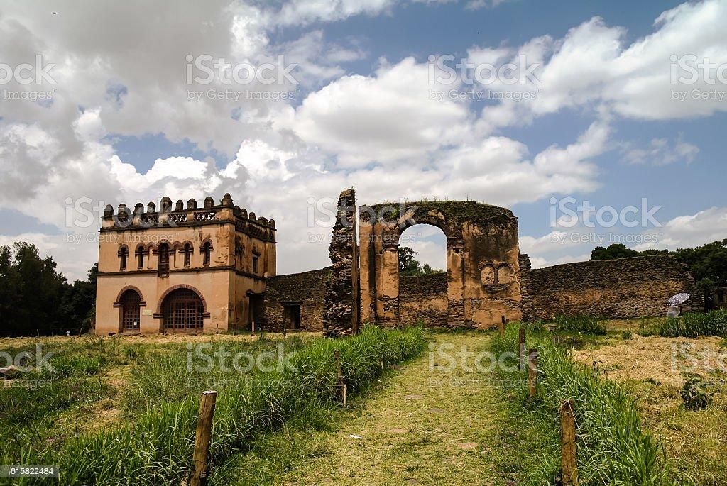 Fasilidas palace in Fasil Ghebbi site Gonder stock photo