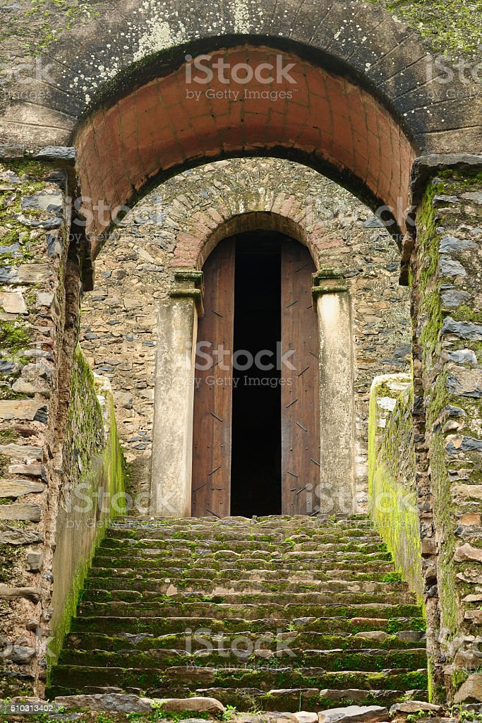 Fasilides Castle in Gonder, Ethiopia stock photo