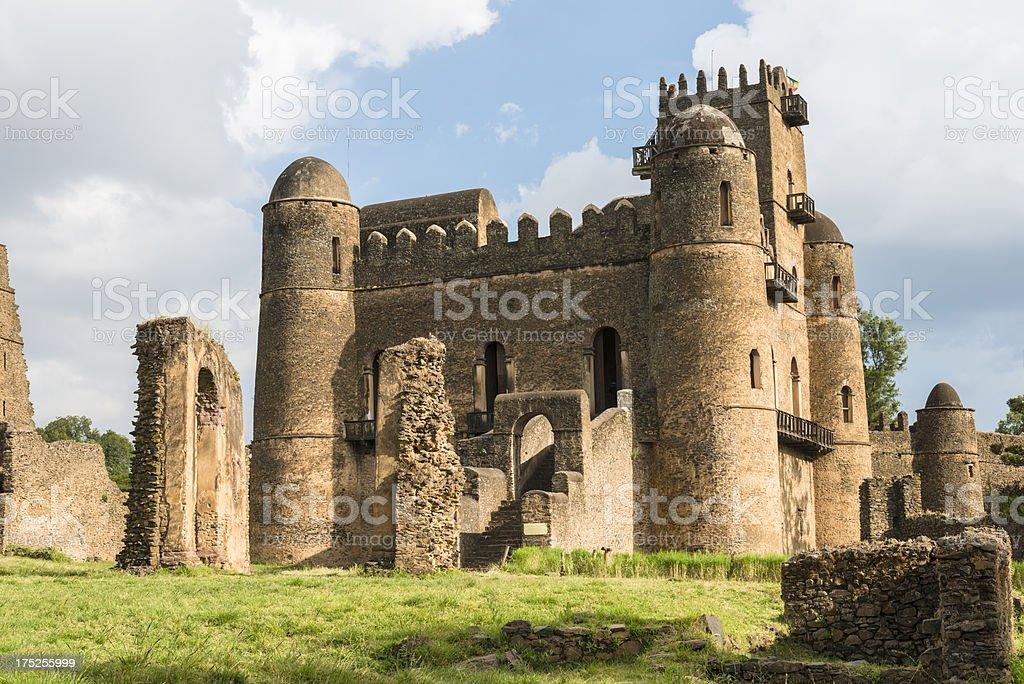 Fasilides Palace in Gondar stock photo