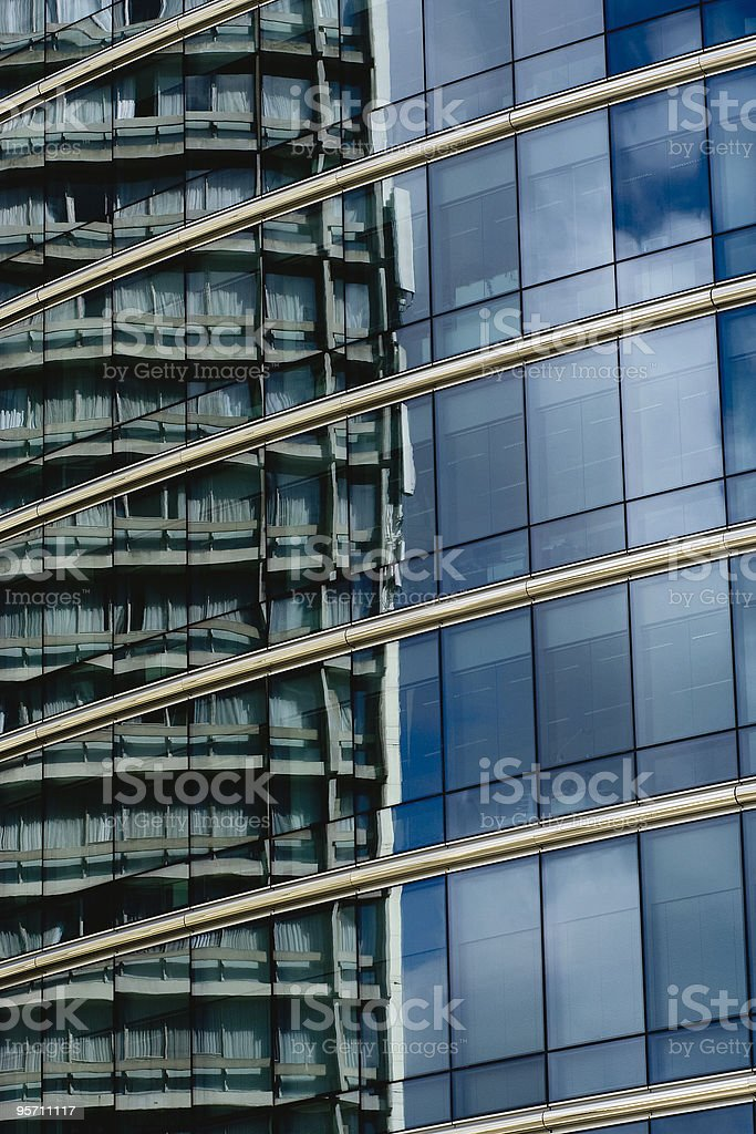 Fassadenspiegelung stock photo