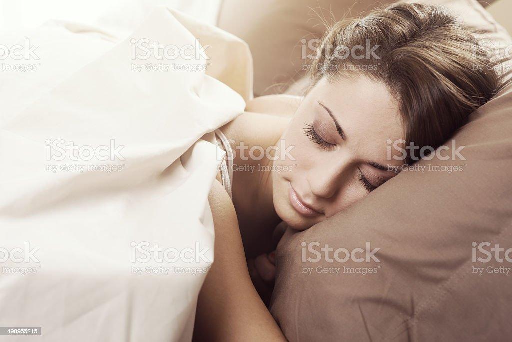 Fast asleep stock photo