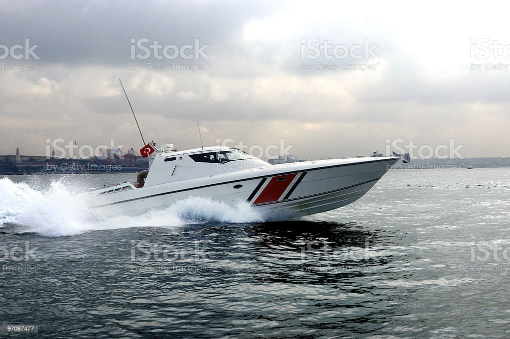 Fast boat royalty-free stock photo