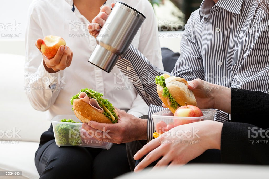 Fast break during work royalty-free stock photo