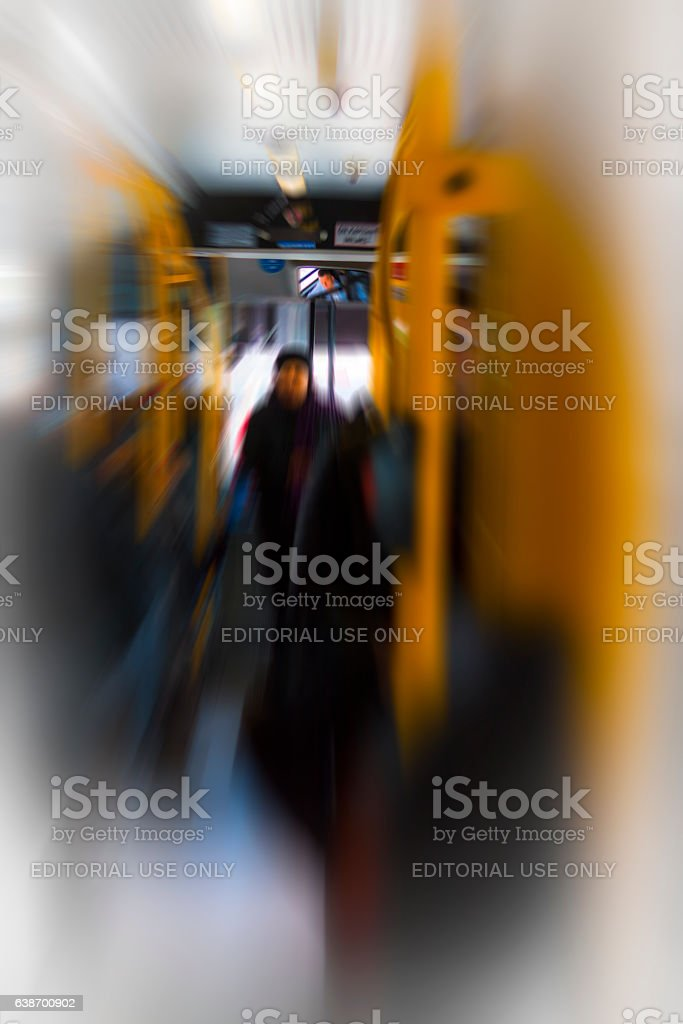 Fast bus transport stock photo