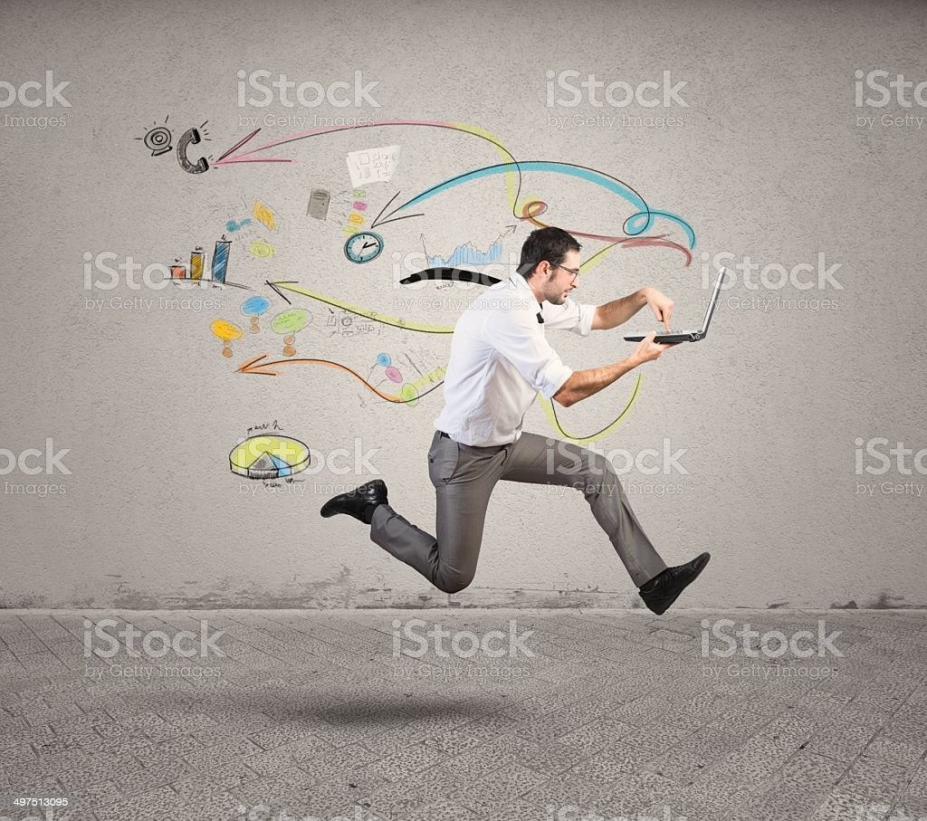 Fast business stock photo