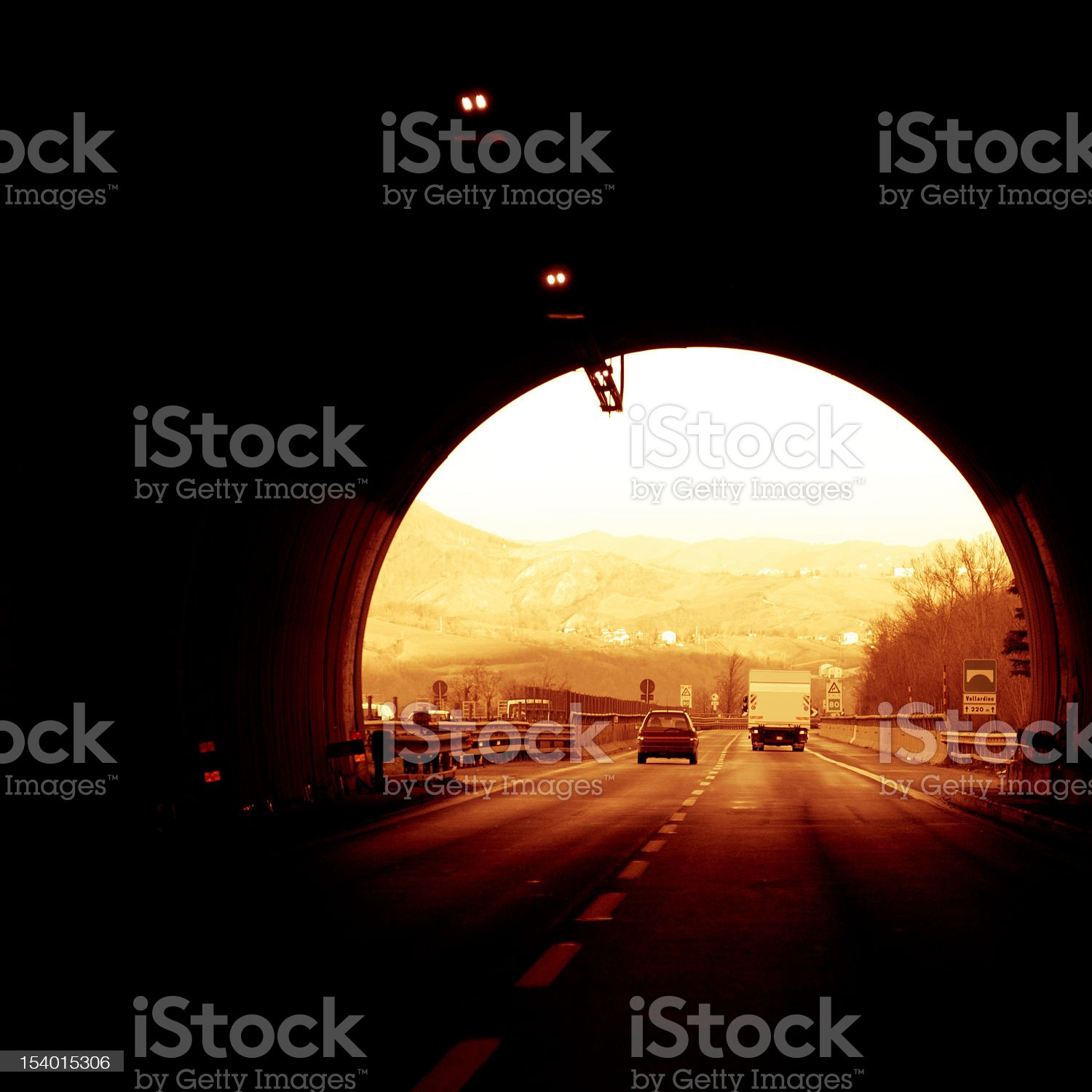 Fast car in the tunnel royalty-free stock photo