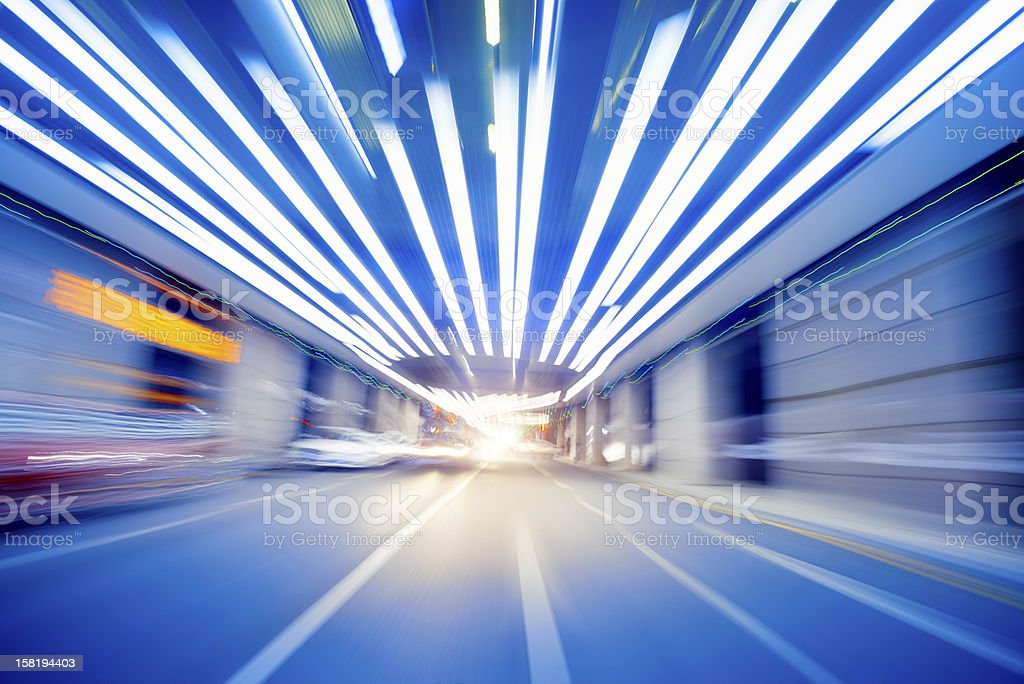 Fast car moving in motion through royalty-free stock photo