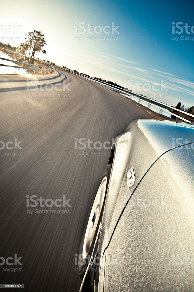 Fast car on the road royalty-free stock photo
