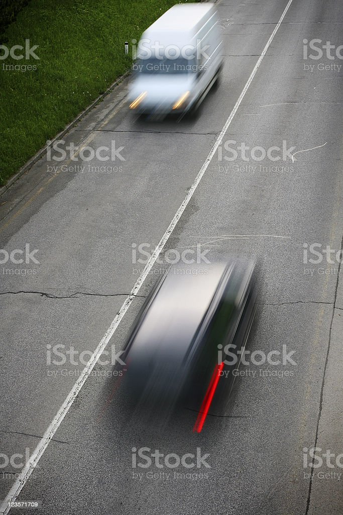 Fast cars royalty-free stock photo