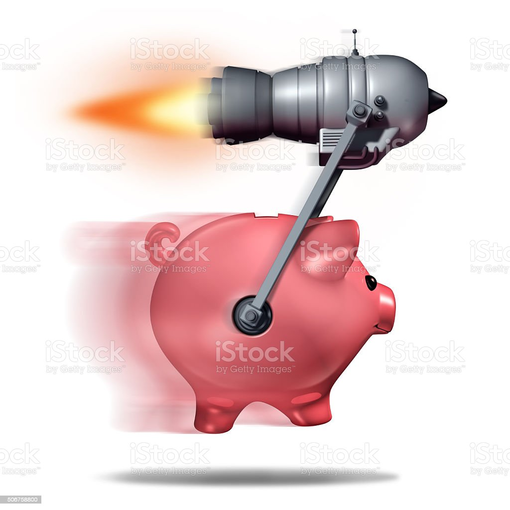 Fast Cash stock photo
