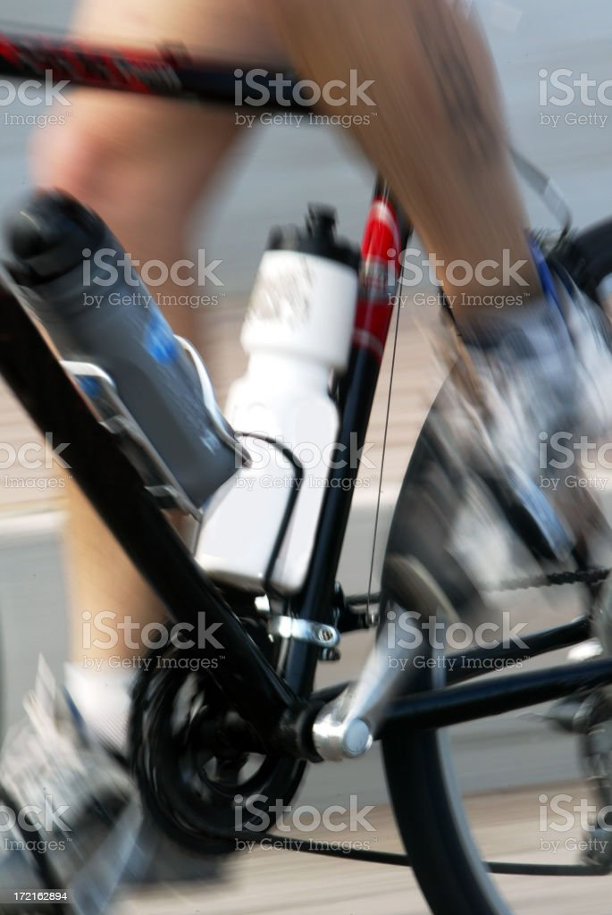 fast cyclist royalty-free stock photo