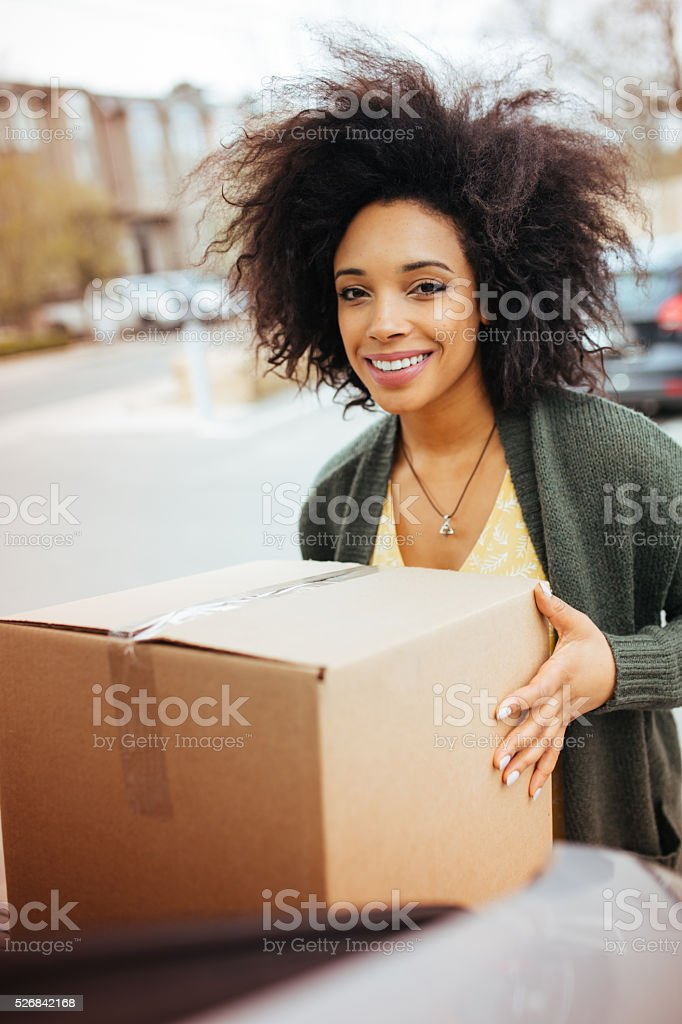 Fast delivery for small businesses stock photo