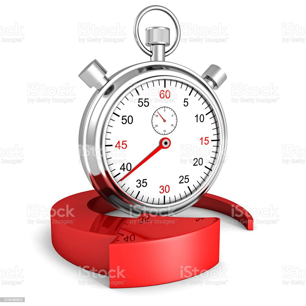 Fast delivery icon. Stopwatch with red arrow stock photo