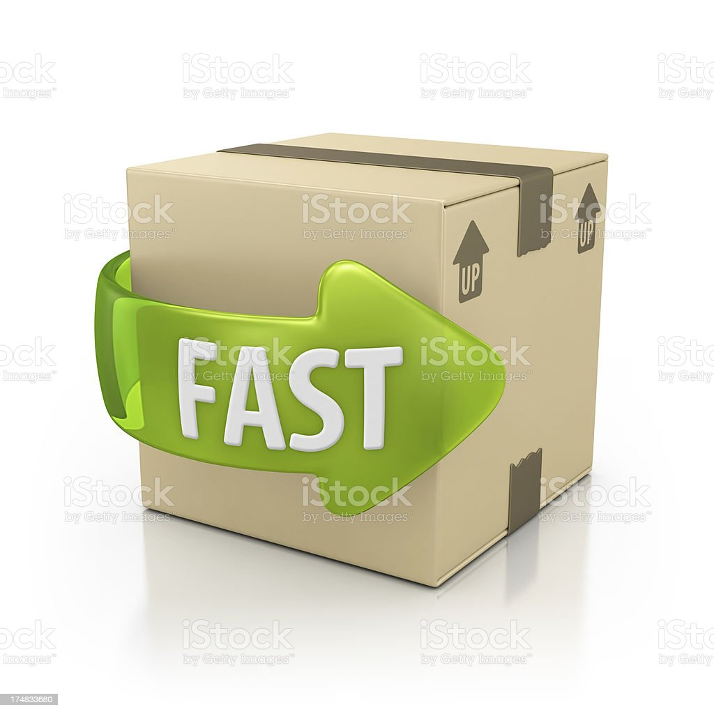 fast delivery stock photo