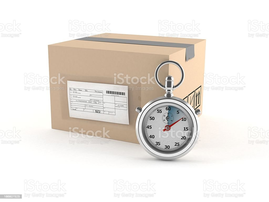 Fast delivery royalty-free stock photo
