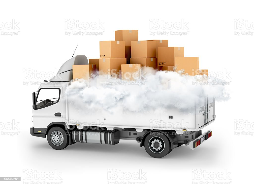 Fast delivery service, stock photo