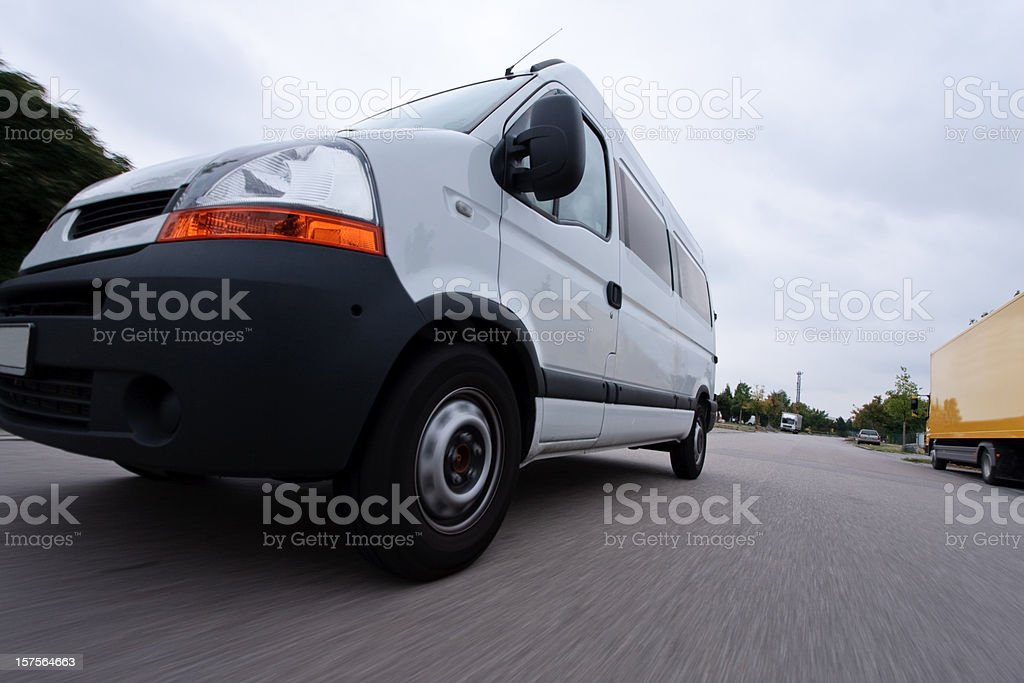 fast delivery van royalty-free stock photo