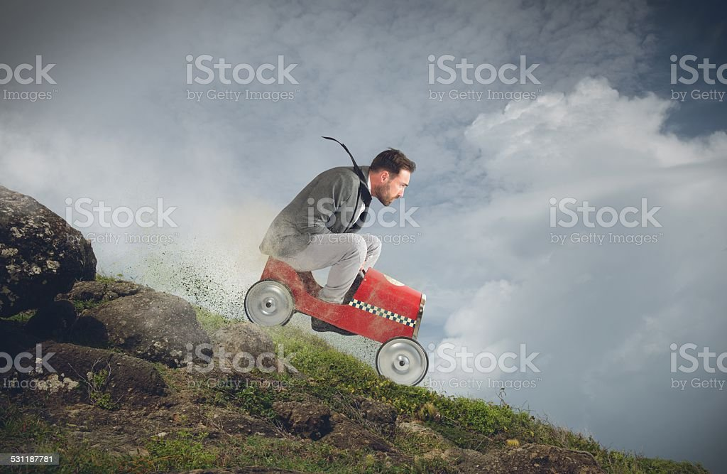 Fast downhill stock photo