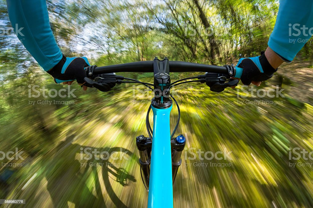fast dynamic bicycle stock photo