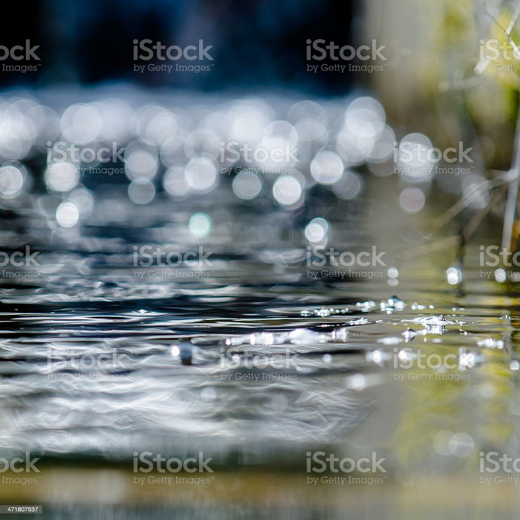 Fast flowing water stock photo