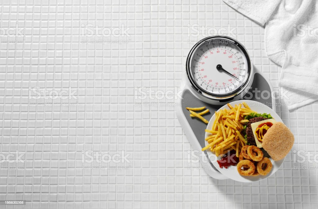 Fast Food and Unhealthy Living royalty-free stock photo