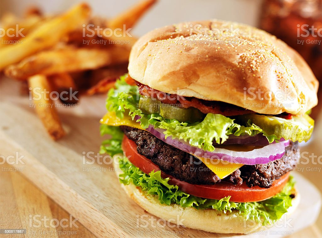Fast Food Bakery Item Burger stock photo
